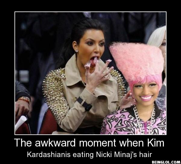 The Awkward Moment When Kim Kardashianis...