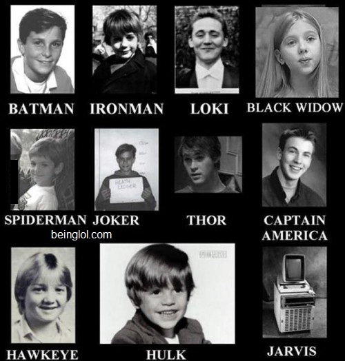 Superheroes When They Were Kids!