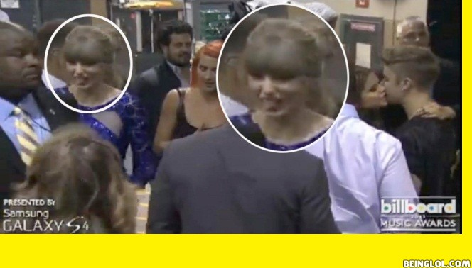 Taylor Swift Pulls Sick Face At Justin Bieber and Selena Gomez Reunion Kiss