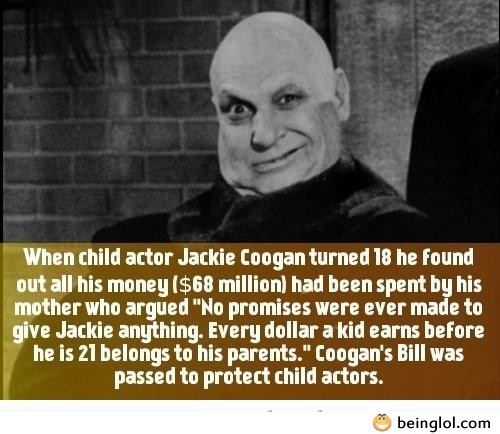 Did You Know That When Child Actor Jackie Coogan Turned 18 He Found Out All His Money ...