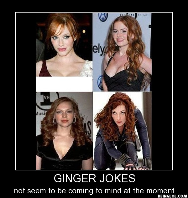 Ginger Jokes It's Not Possible