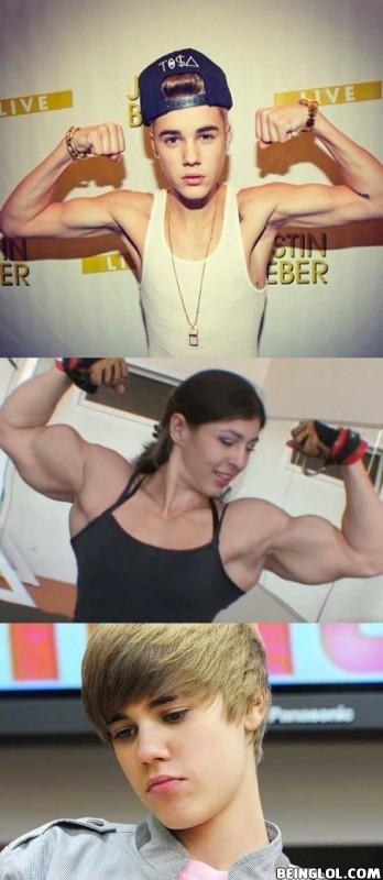 Justin Bieber Body Building Fail