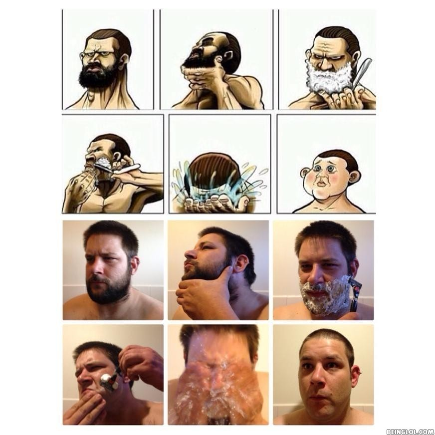 Copying a Shaving Meme.