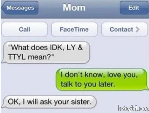 Moms Shouldn't Text.