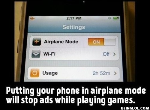 Did You Know That Putting Your Phone In Airplane Mode..