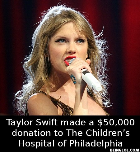Did You Know That Taylor Swift Made a $50,000 Donation to the Children's …