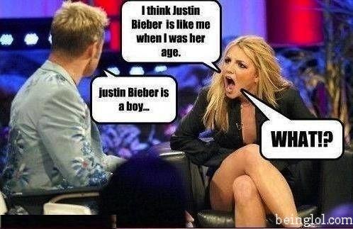 When She Found Justin Bieber Is a Boy !