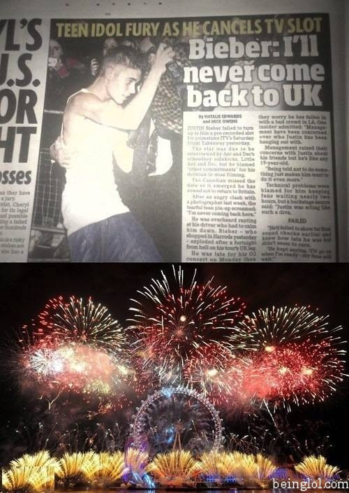 Bieber Announced That He Will Never Come Back to Uk