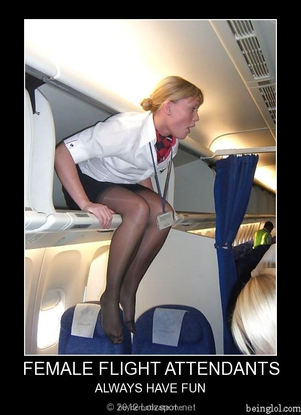 Female Flight Attendant ...