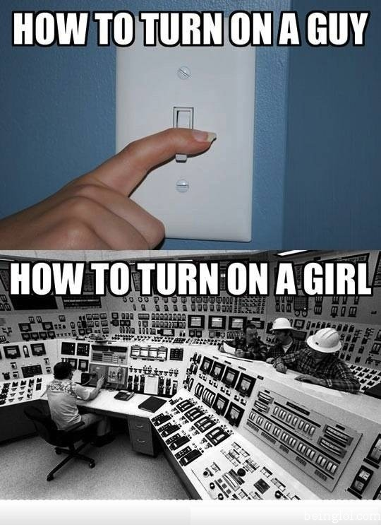 How to Turn On a Woman Vs a Man