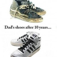 My Shoes Vs. Dad's Shoes