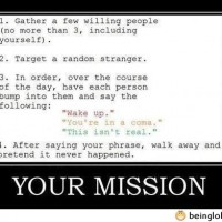 Your Mission For Today