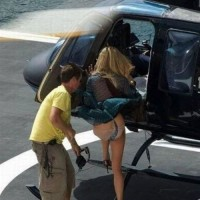 Stupid Wind, Skirt And Helicopter Is Bad Idea..