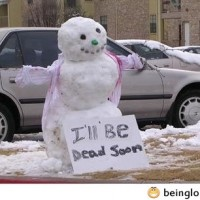 Funny Snowman Sign