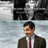When Boys Look At You And Smile