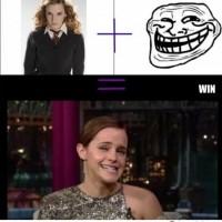 Emma Watson Troll Face Win