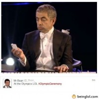 Mr Bean At Olimpic Ceremony