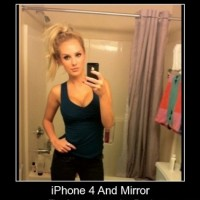 Fail Iphone 4 And Mirror !