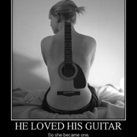 Her Boyfriend Love His Guitar