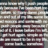 Why We Push People Away