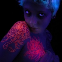 Blacklight Tattoo (invisible Unless Under A Blacklight)
