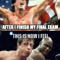 How I Feel After Final Exam !