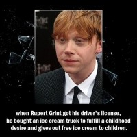 Did You Know That When Rupert Grint Got His Driver's License....