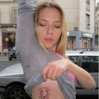 Scarlett Johansson New Tattoo Lucky You