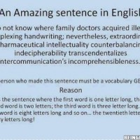 Did You Know That There Is Such An Amazing Sentence In English?!?
