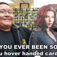 You Hover Handed Cardboard !