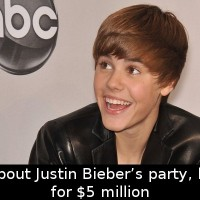 Did You Know That If You Talk About Justin Bieber's Party, He'll Sue You…