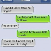 Emily Break Her Finger?
