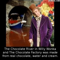 Did You Know That The Chocolate River In Willy Wonka And The Chocolate Factory Was Made From…