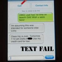 Text Fail