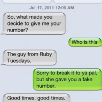 She Gave A Fake Number