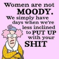 Women Are Not Moody