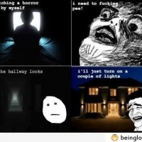 Le Me Watching A Horror Movie