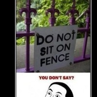Do Not Sit On Fence