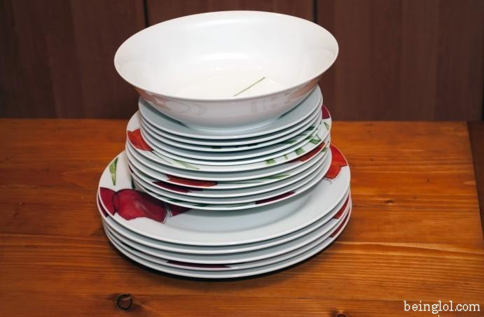 How many plates are there?