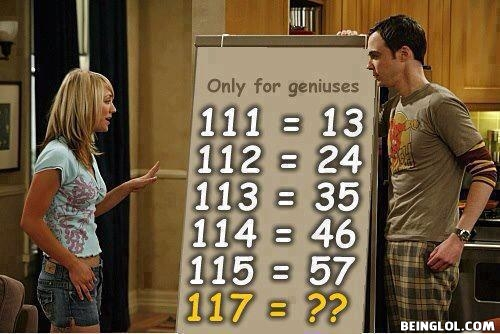 If 111 is 13 then what will be answer of 117?
