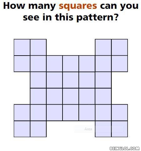 How many squares can you see in this pattern?