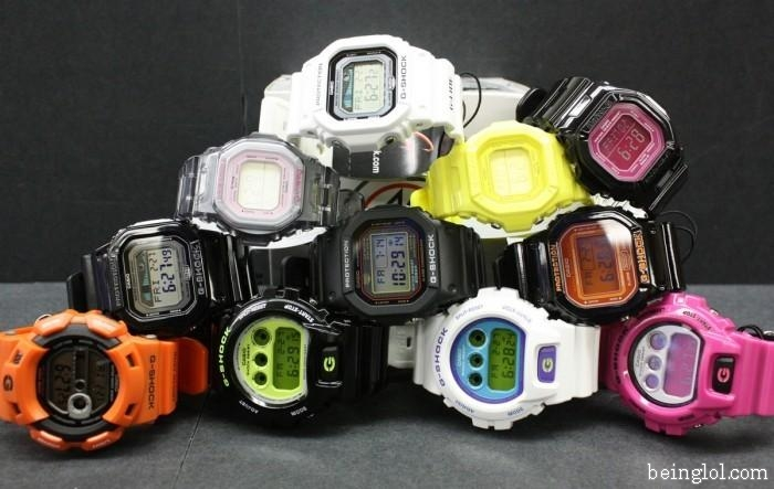 How many g shock watches are there?