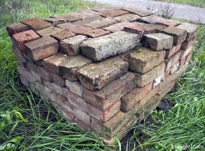 How many old bricks are there?