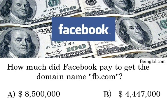 Can You Guess How Much Facebook Paid For Fb.com Domain In 2010?