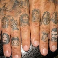 How many tattoos on the fingers?