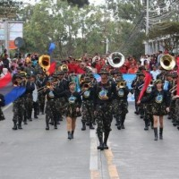How many members are there in the Philippine military academy marching band?