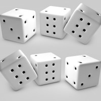 What is the sum of the dots on the dice?